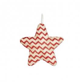 Étoile à Rayures Rouges 15 cm