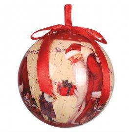 6 Boules Père Noel 6 cm