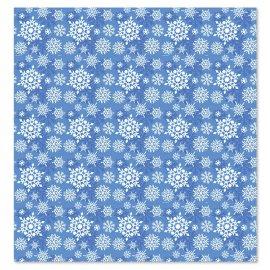 Papier Cadeau avec Flocons de Neige