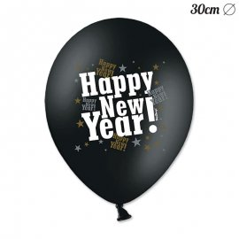 6 Ballons Happy New Year 30 cm