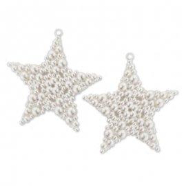 2 Étoiles à Perles 9 cm