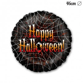 Ballon Happy Halloween Toiles d'Araignées 46 cm