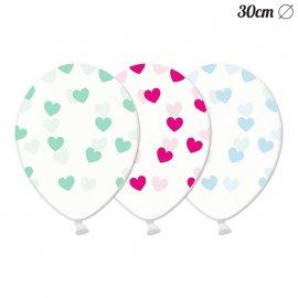 6 Ballons avec Coeurs 30 cm