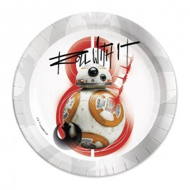 8 Assiettes BB-8 Star Wars 23 cm