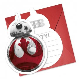 6 Invitations Star Wars VIII