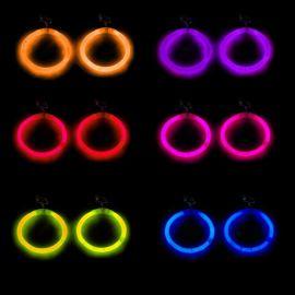 Boucles d'Oreilles Fluo Arrondies (2 u.)