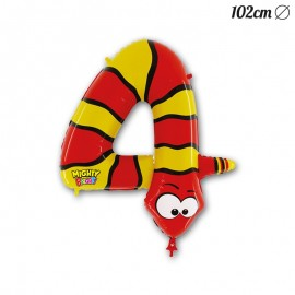 Ballon Serpent Mylar Forme Chiffre 4 102 cm