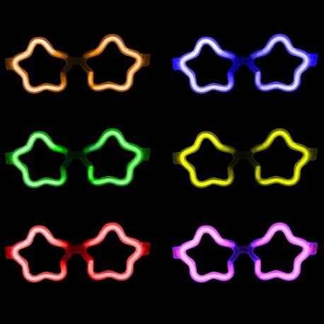 Lunettes Lumineuses Etoile - Accessoires Soirée Fluo c55be3c47c32