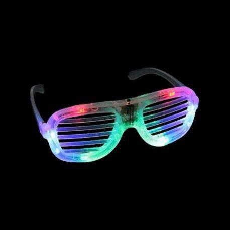 Lunette Led à Rayures - Accessoires - Soirée Fête - Fluo 7ec9498e829e