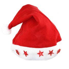 Bonnet de Noël Rouge Led