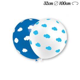 Ballons Ronds Motif Nuage 32 cm
