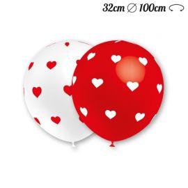 Ballons Ronds Motif Coeur 32 cm