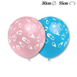 Ballons Ronds Motif Bébé 30 cm