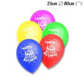 Ballons Ronds Motif Happy Birthday 25 cm