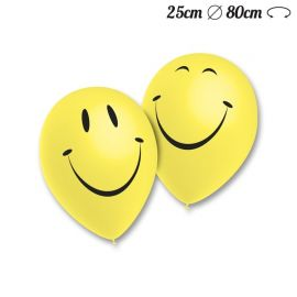 Ballons Ronds Motif Smiley 25 cm