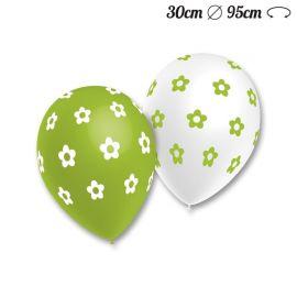 Ballons Ronds Motif Fleurs 30 cm