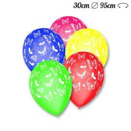 Ballons Ronds Motif Papillons M02 de 30 cm