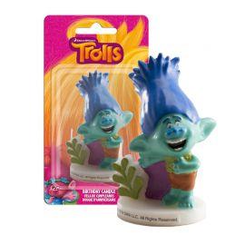 Bougie Poppy Trolls 7,5 cm