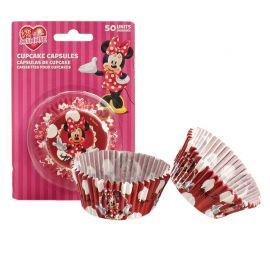 50 Caissettes Minnie Mouse pour Cupcakes