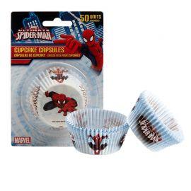 50 Caissettes Spiderman pour Cupcakes