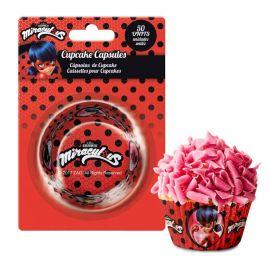 50 Caissettes LadyBug pour Cupcakes