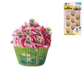 Figurines de Sucre Minions pour Cupcake