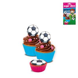 16 Mini Disques Football au Sucre Sans Gluten