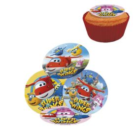 16 Mini Disques Super Wings au Sucre