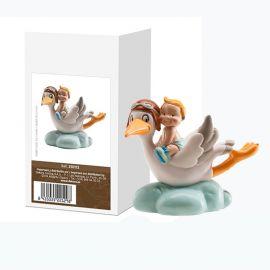 Figurine Décorative Cigogne Volante Portant un Enfant