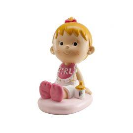Figurine de Petite Fille en Rose pour Décoration