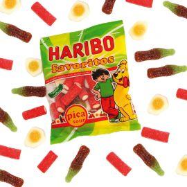 Variété de Bonbons Favoritos qui Piquent Haribo 90 Gr