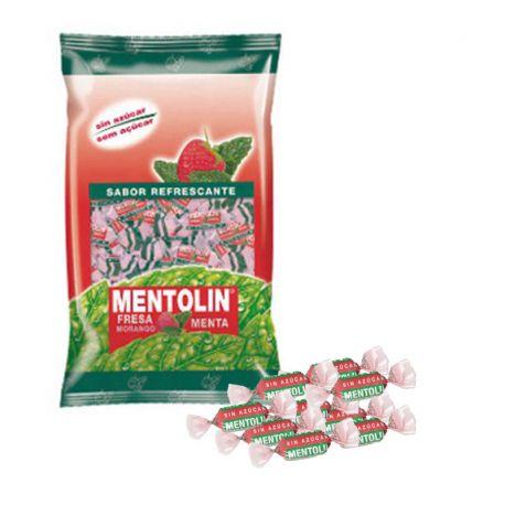 Bonbons Mentolin Fraise et Menthe sans Sucre 1 Kg
