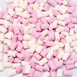 Marshmallow Rose et Blanc Fini 1 Kg