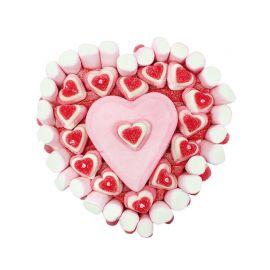 Gâteau de Bonbons en forme de Coeur 500 Grammes