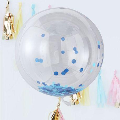 3 Globos Gigantes con Confeti 90 cm
