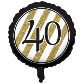 Ballon 40 Noir et Or 45 cm