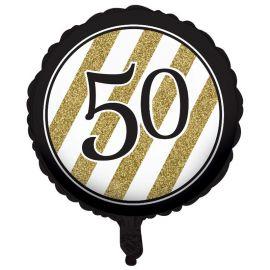 Ballon 50 Noir et Or 45 cm
