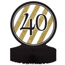Centre de Table 40 Noir et Or