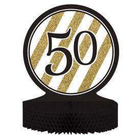 Centre de Table 50 Noir et Or