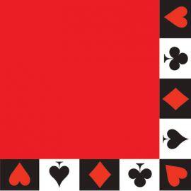 16 Serviettes Casino 33 cm
