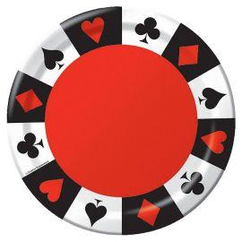 8 Assiettes Casino 23 cm