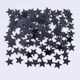 Confeti Estrellas Negras