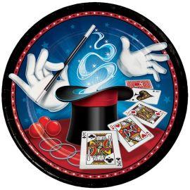 8 Assiettes Magic Party 23 cm