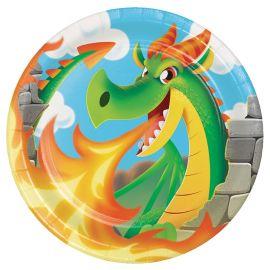8 Assiettes Dragons 23 cm