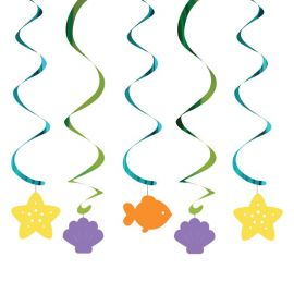 5 Décorations Pendentifs Sirène