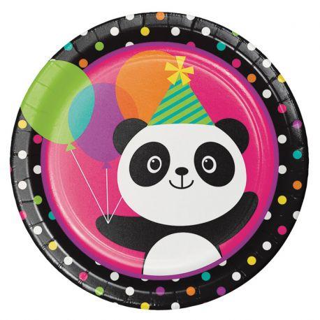 8 Assiettes Panda 23 cm