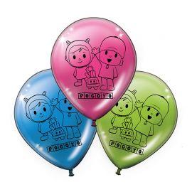 8 Ballons Pocoyo et Nina