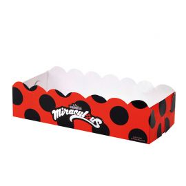 12 Bacs Rectangulaires Miraculous LadyBug