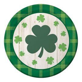 8 Assiettes Saint Patrick 18 cm