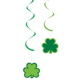 5 Pendentifs en Papier Saint Patrick